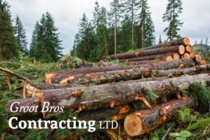 Groot Bros Contracting Log Pile Northern BC