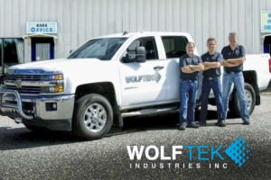 Wolftek Fabrication Crew in front of truck